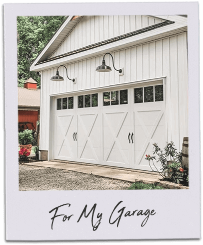 Gooseneck Barn Lights on Garage