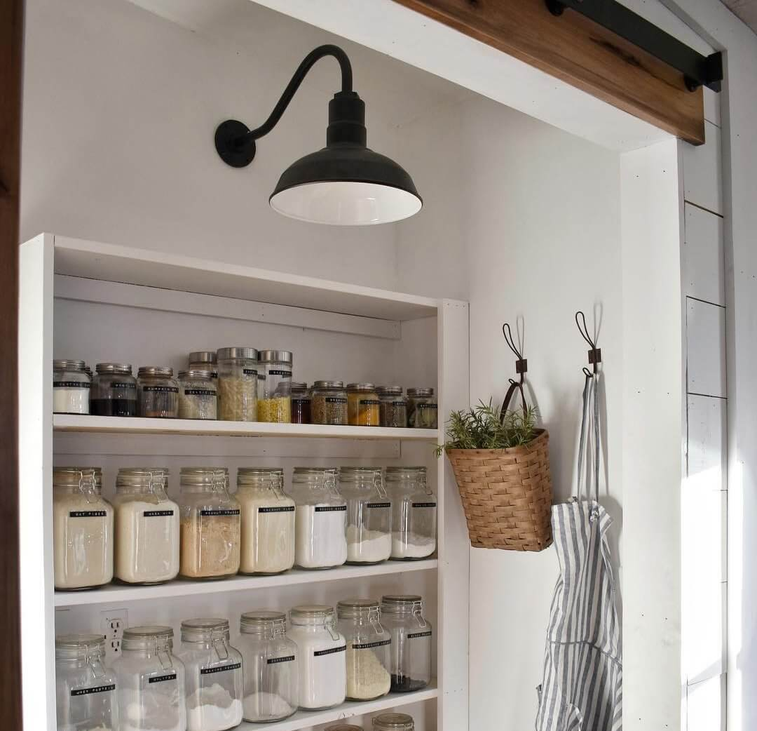 showing how you can add character to a pantry