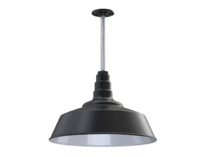 The Manhattan industrial ceiling Pendant light fixture in black