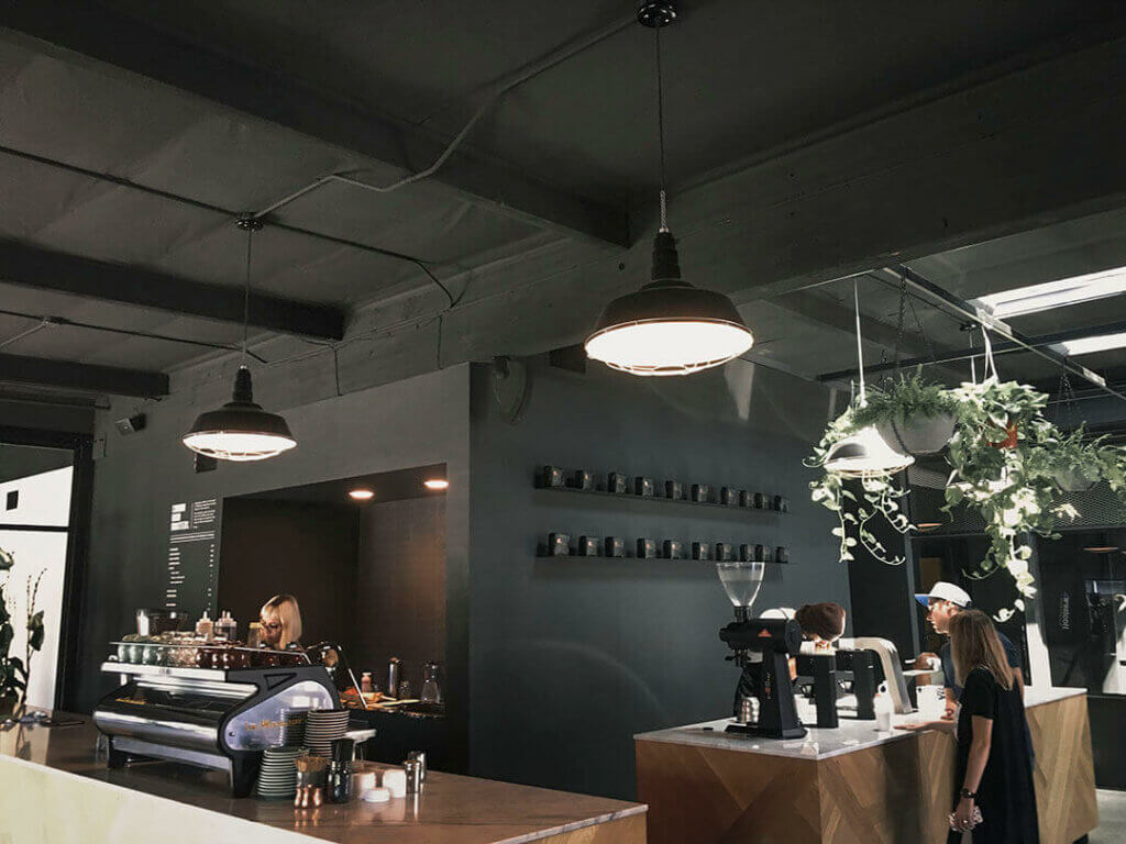 The Manhattan Commercial Ceiling Mounted Light Fixture in Black by Steel Lighting Co