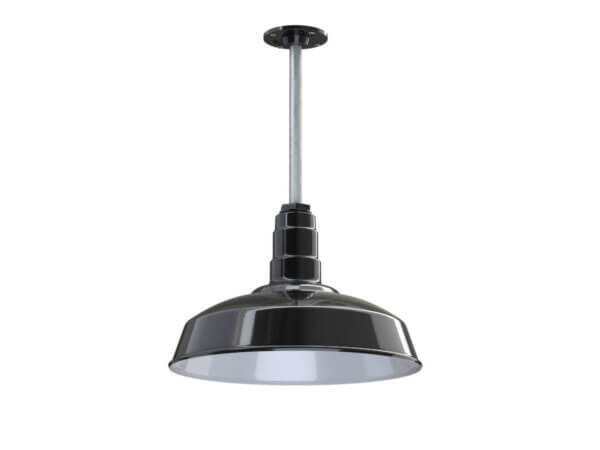 Carson Ceiling Mounted Light Fixture in Black by Steel Lighting Co.