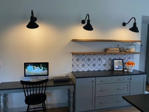 The Venice Wall Mounted Light Fixtures in Black by Steel Lighting Co.