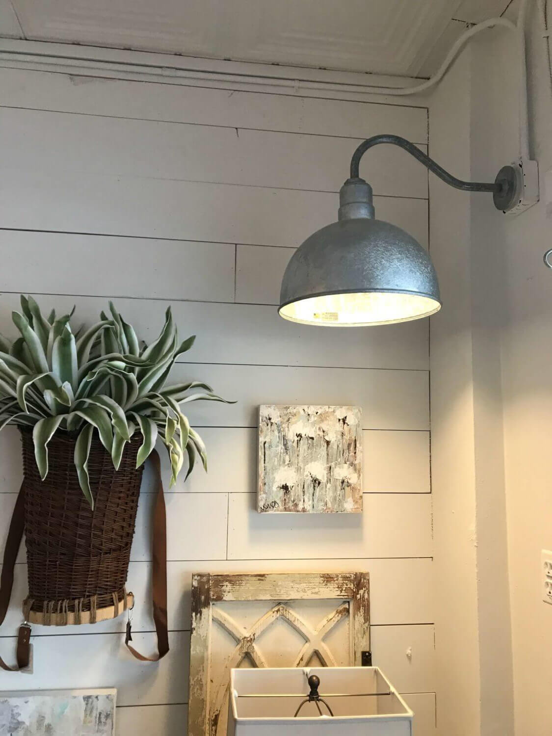 The Hollywood Bowl Wall Mounted Light Fixture in Galvanized by Steel Lighting Co.