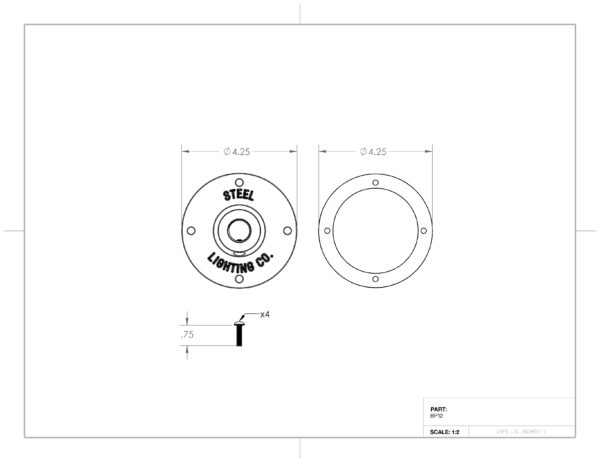"""4"""" Mounting Plate"""