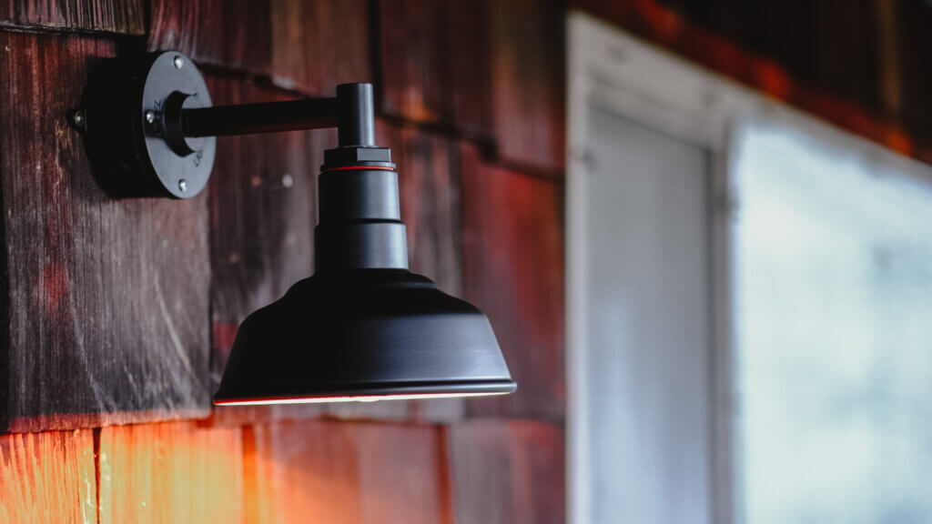 The Hawthorne Wall Mounted Light Fixture in Black by Steel Lighting Co.