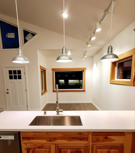 El Segundo Ceiling Mounted Light Fixture in Black by Steel Lighting Co.