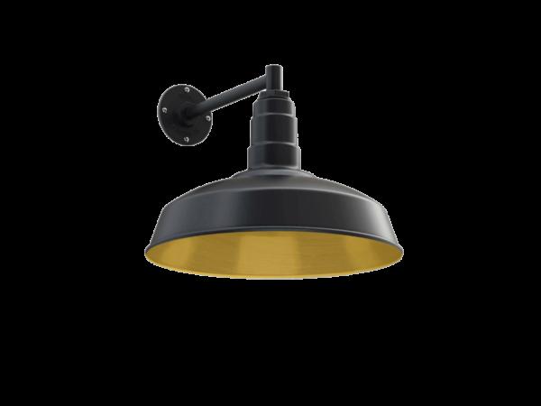 Gardena Wall Mounted Light Fixture in Brass by Steel Lighting Co.