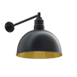 Hollywood Bowl Wall Mounted Light Fixture in Brass by Steel Lighting Co.