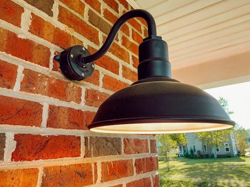 Westchester Gooseneck Wall Mounted Light Fixture in Matte Black by Steel Lighting Co.